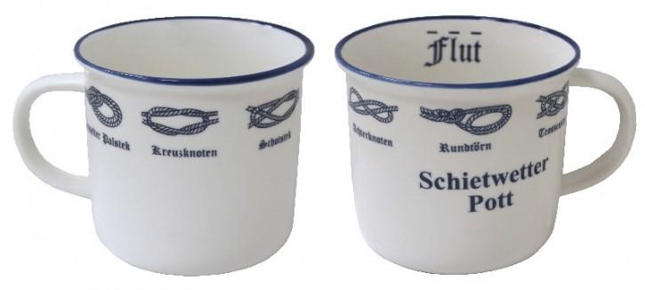 Knotenbecher, Schietwetter, 300ml