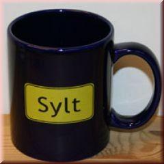 """Becher \""""Sylt Ortsschild\"""""""