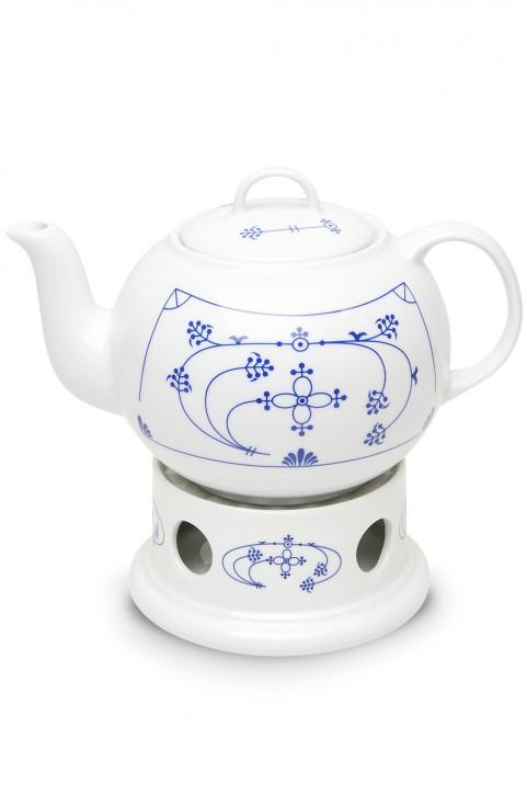 Teekanne Indisch Blau 1,5l, rund