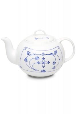 Teekanne Indisch Blau 1l, rund
